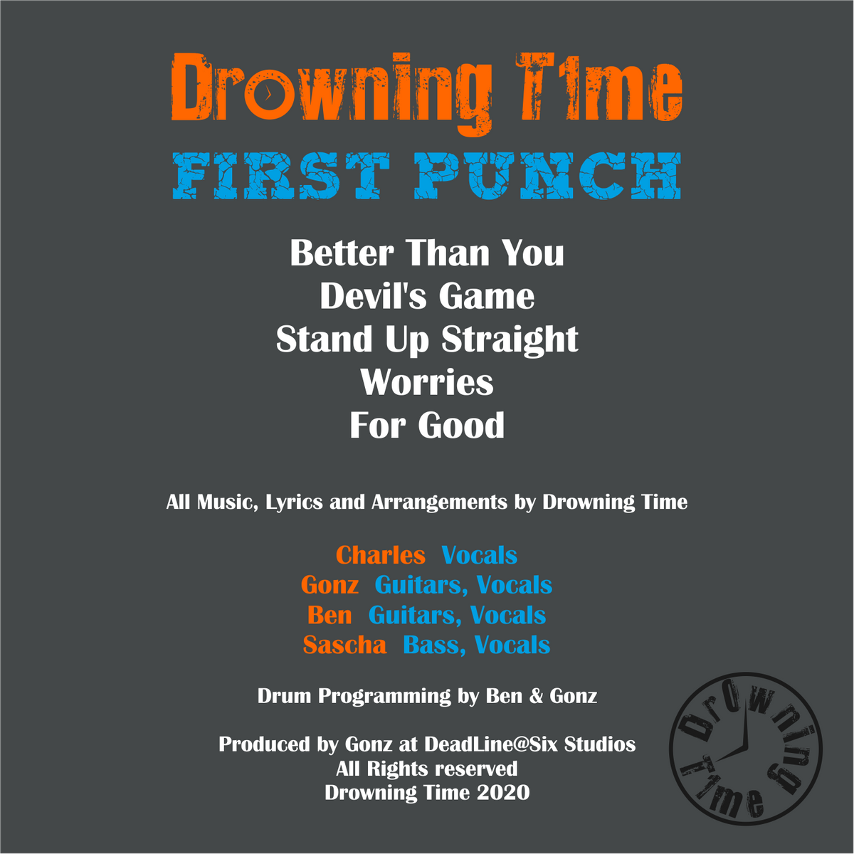 CD-Cover - First Punch Rückseite